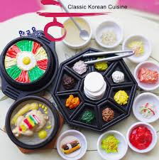 cuisine kawaii คลาสส กอาหารเกาหล ช ด kawaii orcara 1 12ต กตาจ วอาหารฉากเด กเด ก
