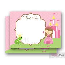printable thank you cards princess pink princess thank you card printable callachic
