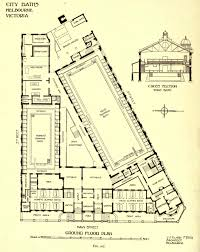 plan of the city baths melbourne architectural plans