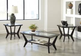 3 piece black coffee table sets furniture latitude run woodrow 3 piece coffee table set in brown