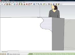 how to use the follow me tool in sketchup to shape corners