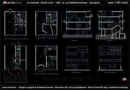 Autocad Floor Plan by Maison Cook Boulogne Sur Seine France 1926 Le Corbusier