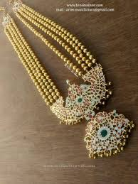 vintage long gold necklace images Long stone haaram with layered beaded chain goldieeeeeee jpg