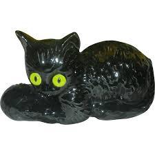 halloween cat png mid century modern black cat halloween haegar planter with glass