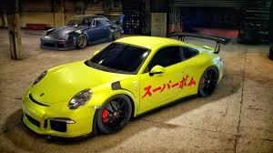 Porsche 911 Yellow - need for speed car video games yellow garages porsche