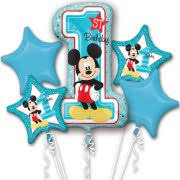 1st birthday balloon delivery mickey mouse balloons