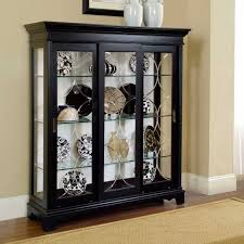 White Curio Cabinet Curio Cabinets Contemporary Curio Cabinets Six Glass Shelf Within