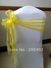 yellow chair sashes sashes