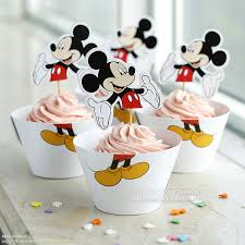 free shipping mickey mouse cupcake wrappers toppers cake cups