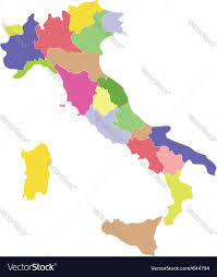 Italy Region Map by Italy Map Royalty Free Vector Image Vectorstock
