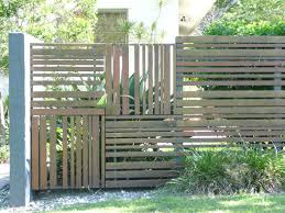 timber fence ideas square panels with a range of board sizes