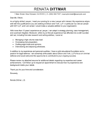 Sample Cover Letter For Teaching by Best Lawyer Cover Letter Examples Livecareer