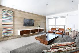floating tv cabinet family room modern with area rug built in