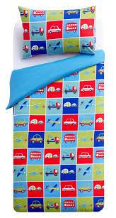 Children S Duvet Cover Sets Colours Transport Transport Multicolour Single Children U0027s Duvet