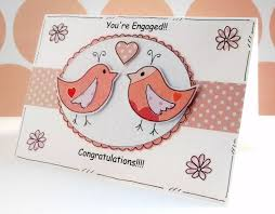 engagement congratulations card engagement congratulations card lovebirds by craftymushroomcards