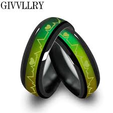 couples jewelry rings images Fashion titanium black mood rings temperature emotion feeling jpg
