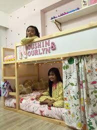 girls bunk beds ikea mommo design ikea kura 8 stylish hacks kids furniture and
