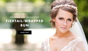 how to wrap wedding hair wedding day hairstyles fishtail braid wrapped bun tutorial