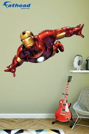 Diy Superhero Room Decor Tony Stark Bedroom Iron Man Movie Home Decals Wall Stickers Window