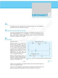 cbse physics lab manual part 3 electric current electromagnetism