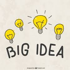 big idea light bulbs vector free