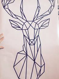 Decoration Geometric Wall Decals Home by Tatto Ideas 2017 Geometric Deer Head Wall Decal Geometric Animals