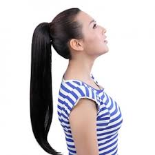 clip in ponytail 20 inch 100 human hair clip in ponytails us 69 00