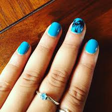 blue and black nail design for square nails nail designs for