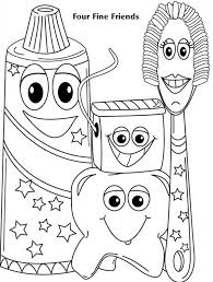 four fine friends of dentist coloring pages four fine friends of