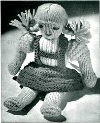 vintage knitted doll pattern vtns fan freebie friday vintage