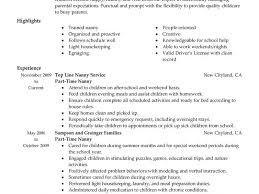 nanny resume sample templates assistant caregiver nanny resume