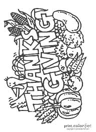 happy thanksgiving sign coloring page print color