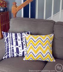 Designer Pillows Diy Designer Pillows Painted With A Stencil
