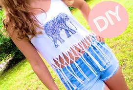 DIY Clothes Fringe Crop Top Print Your Own Tshirt Graphic Tee - Design your own t shirt at home