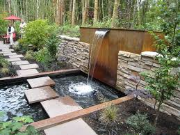 small backyard landscaping ideas with water fountain outdoor