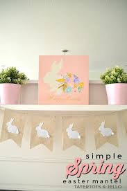 Easter Mantel Decorating Ideas by Simple Spring Easter Decorating Ideas