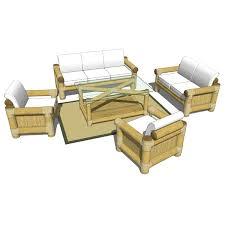 2 Armchairs Bamboo Sofa Set 3d Model Formfonts 3d Models U0026 Textures