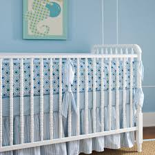 Blue Crib Bedding Set Classic Blue Oxford 4 Crib Bedding Set Twinkle Twinkle Silk