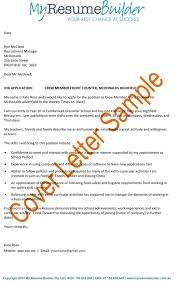 example of a good cover letter for a resume job letter examples
