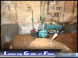 How To Dry Out A Basement by Basement Dig Out Lowering Your Basement Youtube