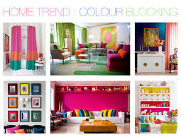 home colour blocking mountain home decor