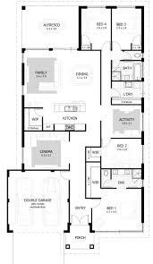 bedroom three bedroom 3 bedroom house with double garage plans 4