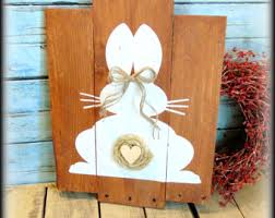 Easter Decorations Country Style by Bunny Pallet Sign Etsy
