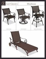 Madison Outdoor Furniture by Madison Sling Outdoor Patio Furniture By Cast Classics