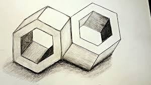 how to draw 3d optical illusions inseparable youtube