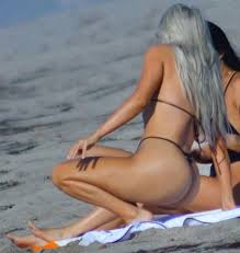 Malibu Strings Meme - kim kardashian shows off bod in barely there bikini five months