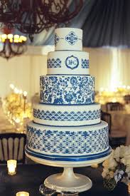 wedding cakes pictures blue and white wedding cakes