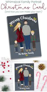 diy whimsical family portrait card how you can make