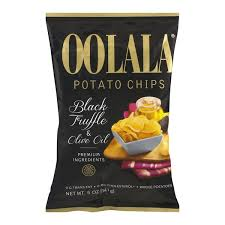 truffle whole foods oolala potato chips black truffle olive 5 0 oz from whole