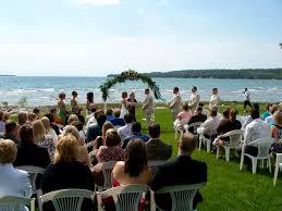 outside weddings think outside weddings reception on the northern shore of lake
